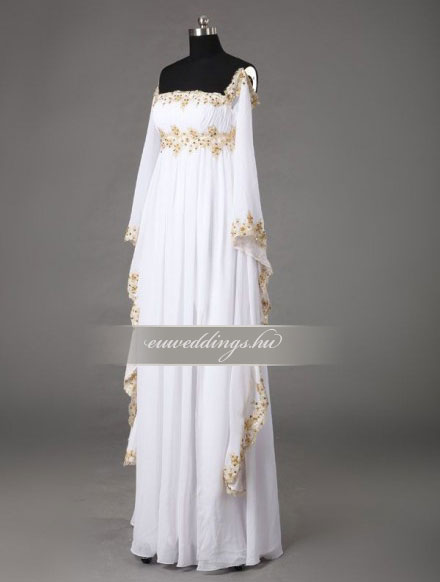 Menyasszonyi ruha empire fazonú hosszú ujjú-EPH-8564