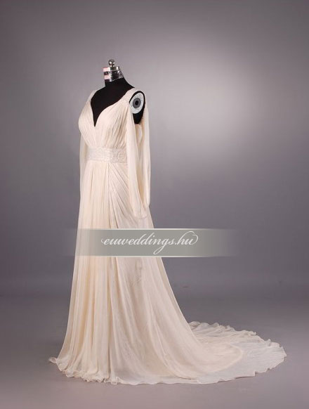 Menyasszonyi ruha empire fazonú hosszú ujjú-EPH-8569