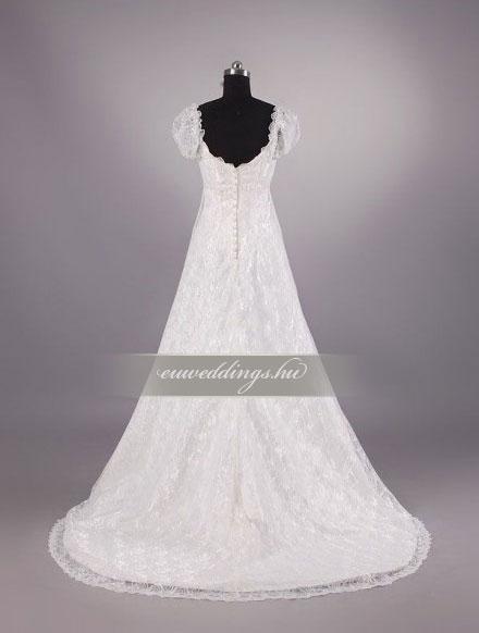 Menyasszonyi ruha empire fazonú pántos-EPP-8609