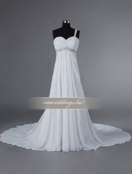 Menyasszonyi ruha empire fazonú pántos-EPP-8654