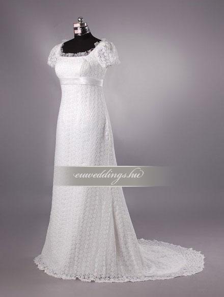 Menyasszonyi ruha empire fazonú pántos-EPP-8736