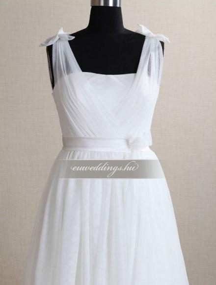 Menyasszonyi ruha empire fazonú pántos-EPP-8741