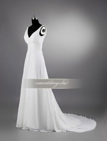 Menyasszonyi ruha empire fazonú pántos-EPP-8789