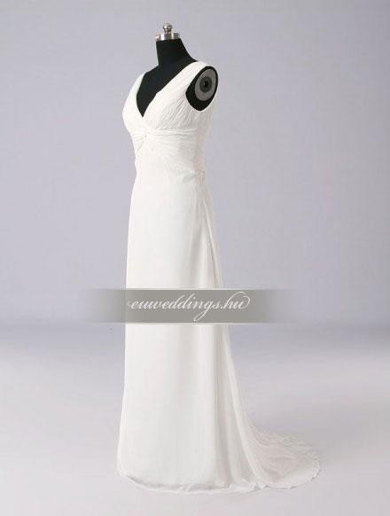 Menyasszonyi ruha empire fazonú pántos-EPP-8804