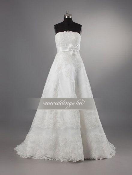 Menyasszonyi ruha empire fazonú ujjatlan-EPU-8902