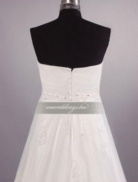 Menyasszonyi ruha empire fazonú ujjatlan-EPU-9000