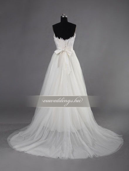 Menyasszonyi ruha empire fazonú ujjatlan-EPU-9039
