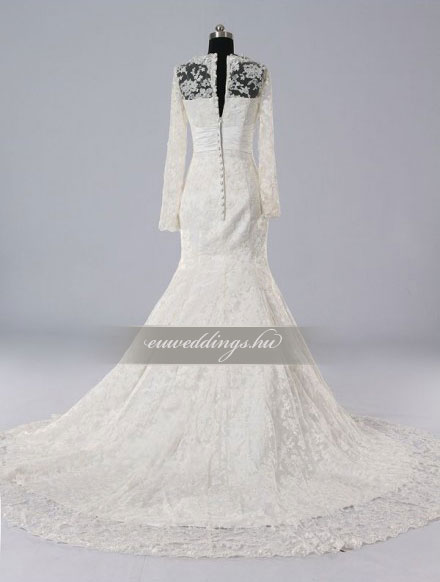 Esküvői ruha sellő fazonú hosszú ujjú-SFH-9967