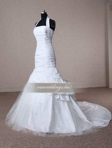 Esküvői ruha sellő fazonú pántos-SFP-9988