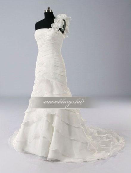 Esküvői ruha sellő fazonú pántos-SFP-10033