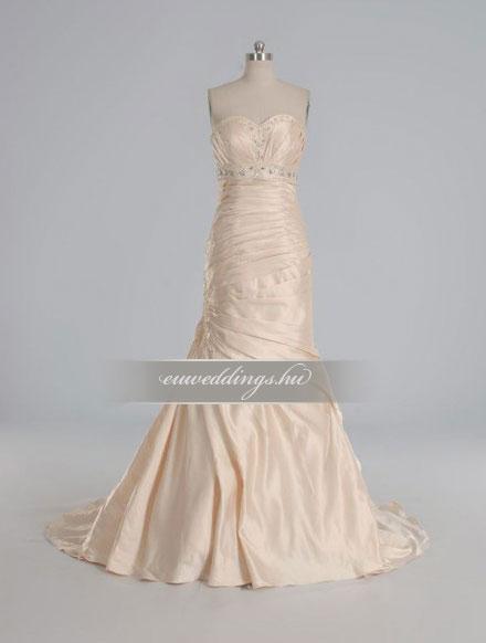 Menyasszonyi ruha sellő fazonú színes és mintás-SFS-10497
