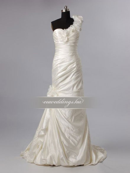 Menyasszonyi ruha sellő fazonú színes és mintás-SFS-10548