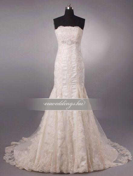Menyasszonyi ruha sellő fazonú színes és mintás-SFS-10561