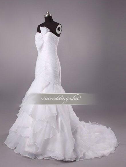 Menyasszonyi ruha sellő fazonú ujjatlan-SFU-10659