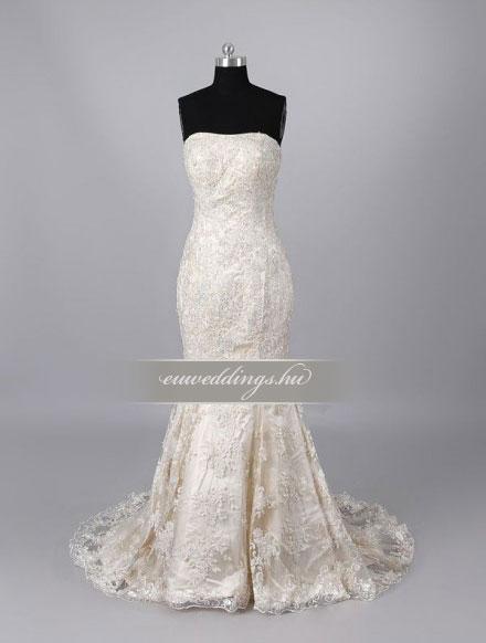 Menyasszonyi ruha sellő fazonú ujjatlan-SFU-11400