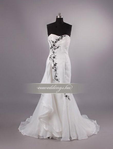 Menyasszonyi ruha sellő fazonú ujjatlan-SFU-11405