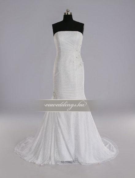 Menyasszonyi ruha sellő fazonú ujjatlan-SFU-11415