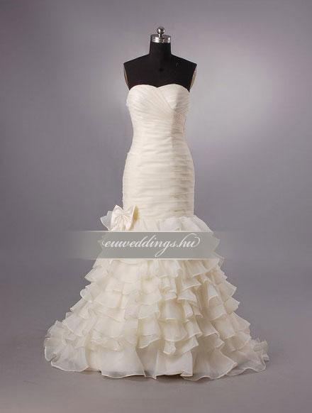 Menyasszonyi ruha sellő fazonú ujjatlan-SFU-11433