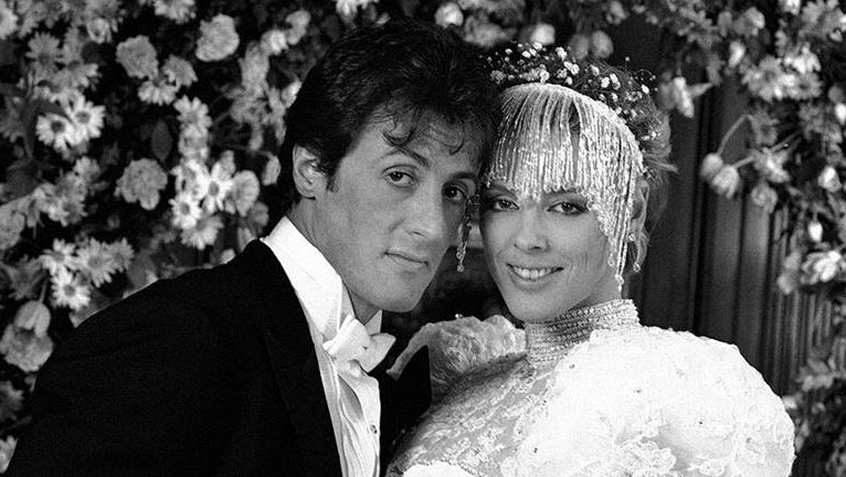 Brigitte Nielsen esküvői ruhája