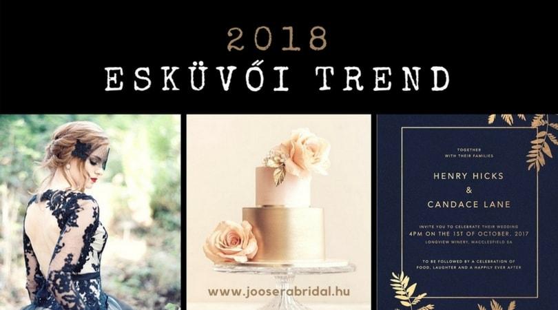 esküvői trend 2018