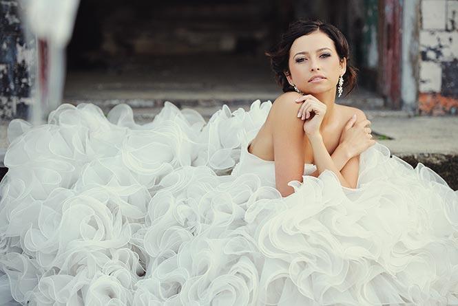 A 7 leggyakoribb esküvői ruha szövet