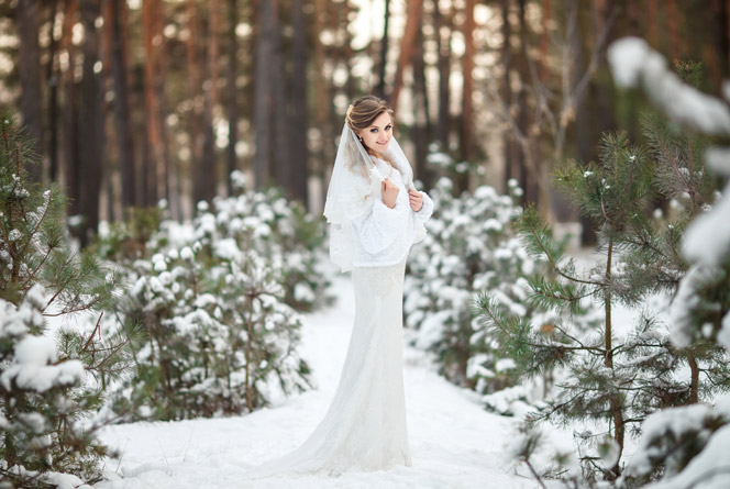 A téli esküvő varázsa
